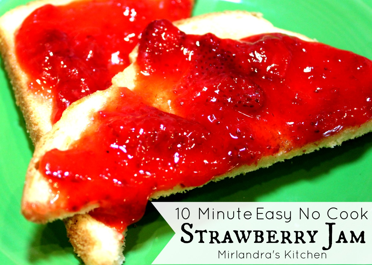 10 Minute Easy No Cook Strawberry Jam