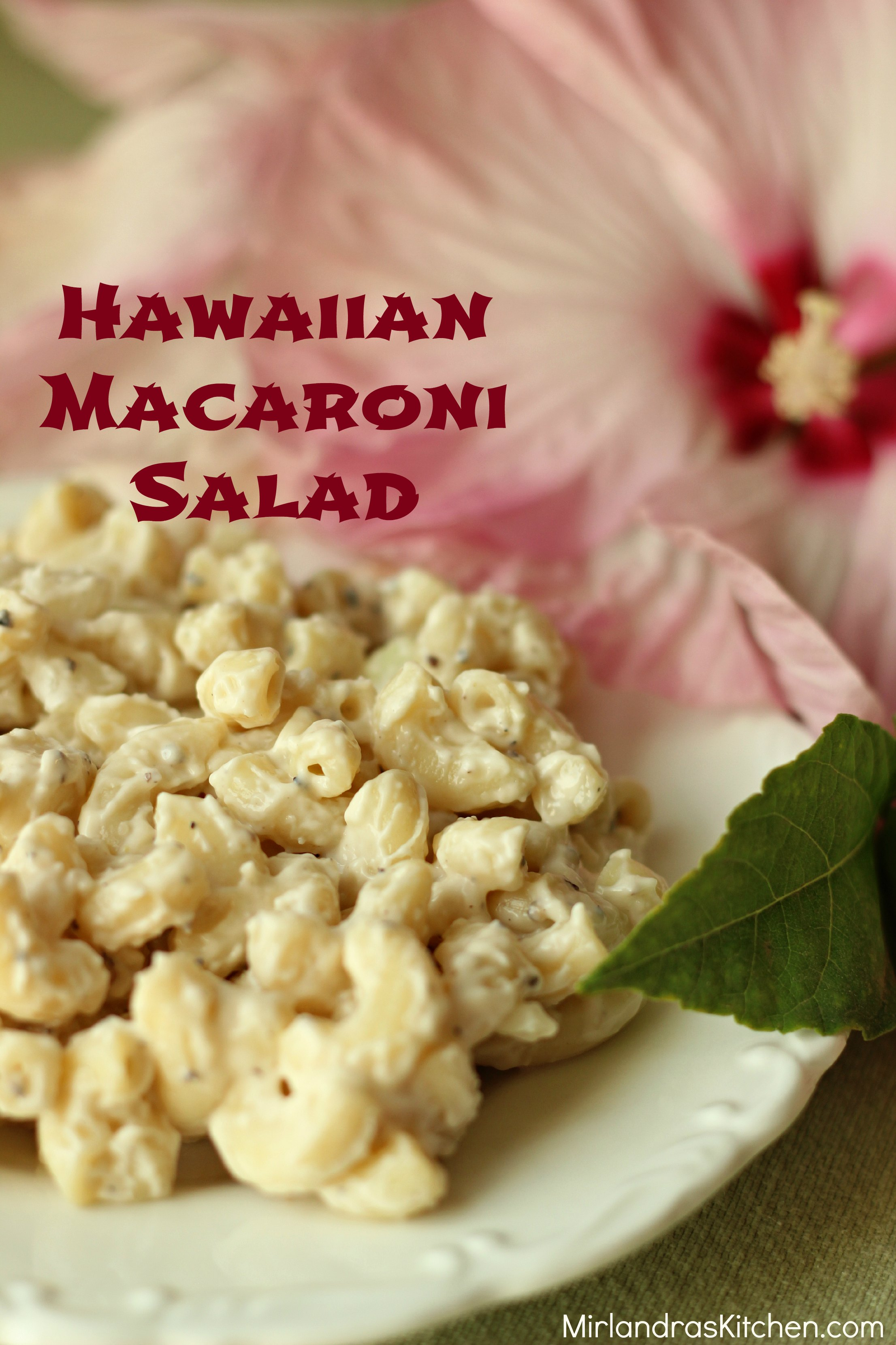 This Hawaiian macaroni salad is one of our favorite dinner side dishes of all time.  It is cool and creamy, the perfect side for BBQ and Asian food.