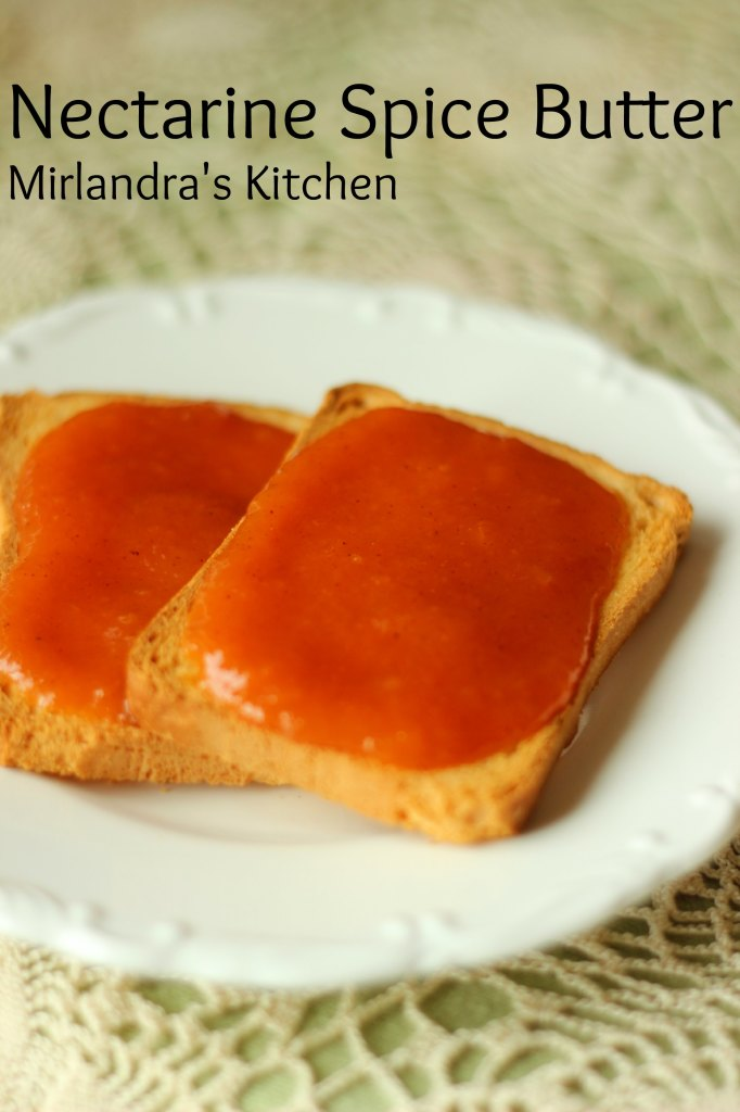 This nectarine spice butter is easy to make and lovely to have all winter long.  Store it in the fridge or can it for winter.