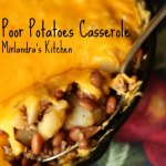 I grew up on this easy poor potato hamburger casserole. It is full of quality but cheep protein and very tasty. Sometimes I make it just to eat leftover.