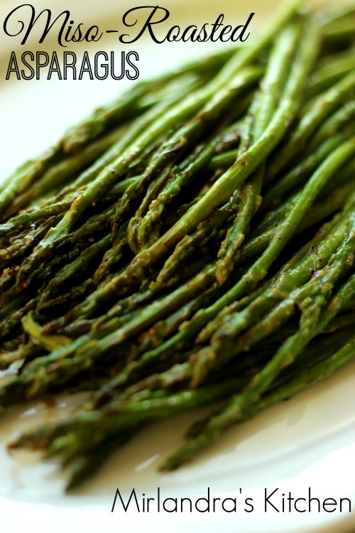 This miso roasted asparagus is easy to put in the oven while you put dinner together. I love the subtle undertone from the miso. Anybody can nail this recipe and cook wonderful asparagus!