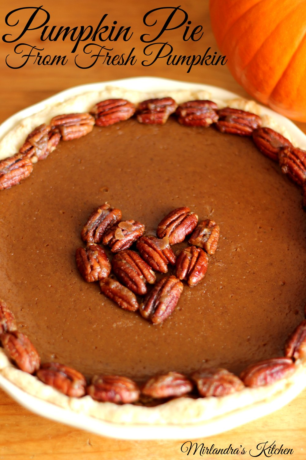 Making your own pumpkin puree is easier than it sounds and makes wonderful pies.  This spicy version full of cinnamon is perfect for Thanksgiving or dessert any time of the year.  I have also included some pie crust tips that will help you make a yummy crust without losing your mind.