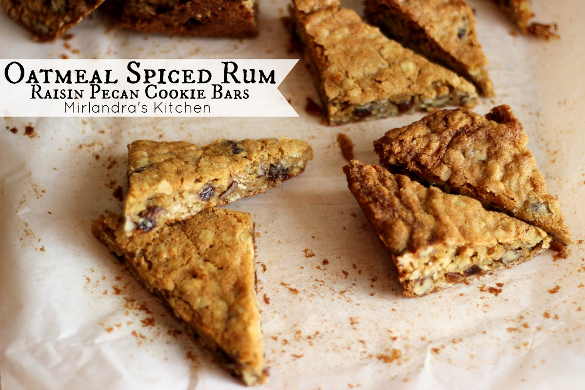 Oatmeal Rum Raisin Cookies With Pecans and Captain Morgan Spiced Rum ...