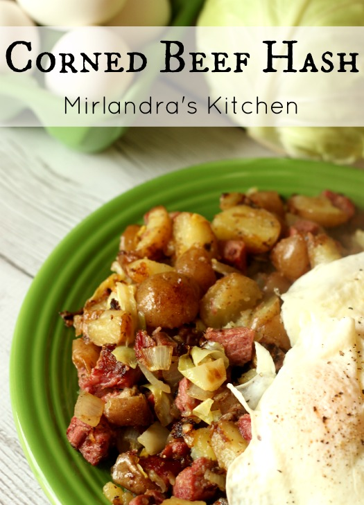 There is no better use of leftover corned beef dinner than a yummy breakfast corned beef hash! It is my favorite March meal. This is a simple version.