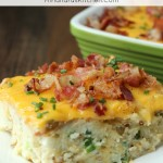 This Loaded Twice Baked Potatoes Casserole is delicious, easy to make, and full of bacon. Try my secret trick for amazing texture!
