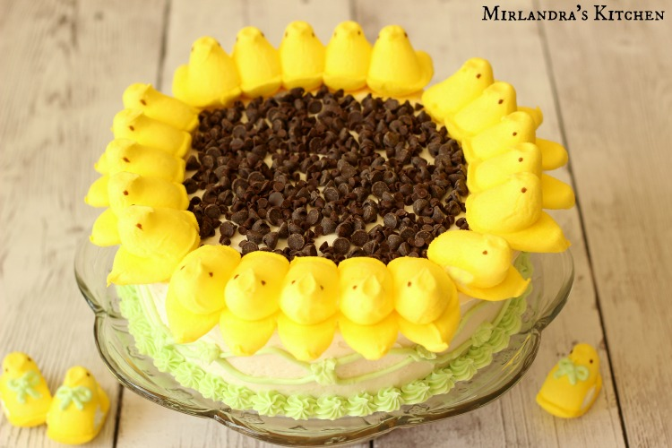 Sunflower Peeps Cake