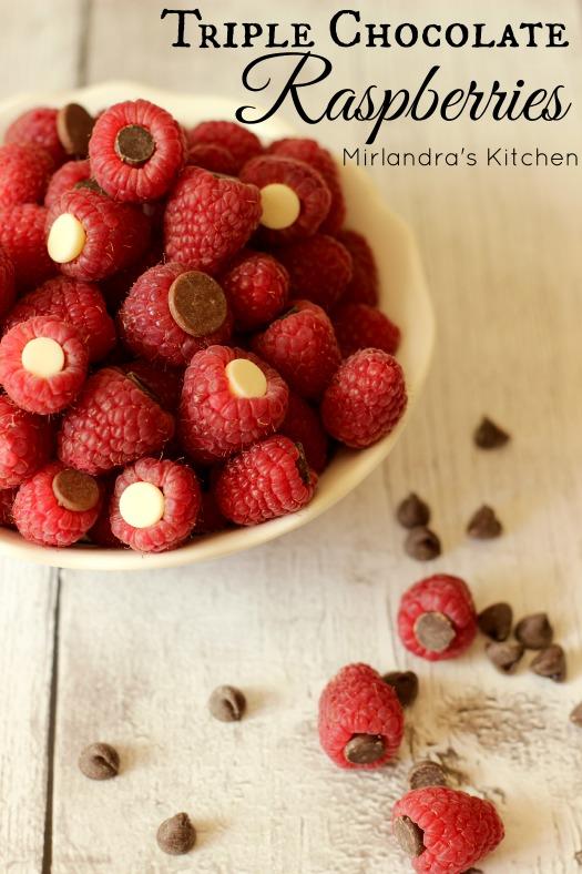 Triple Chocolate Raspberries