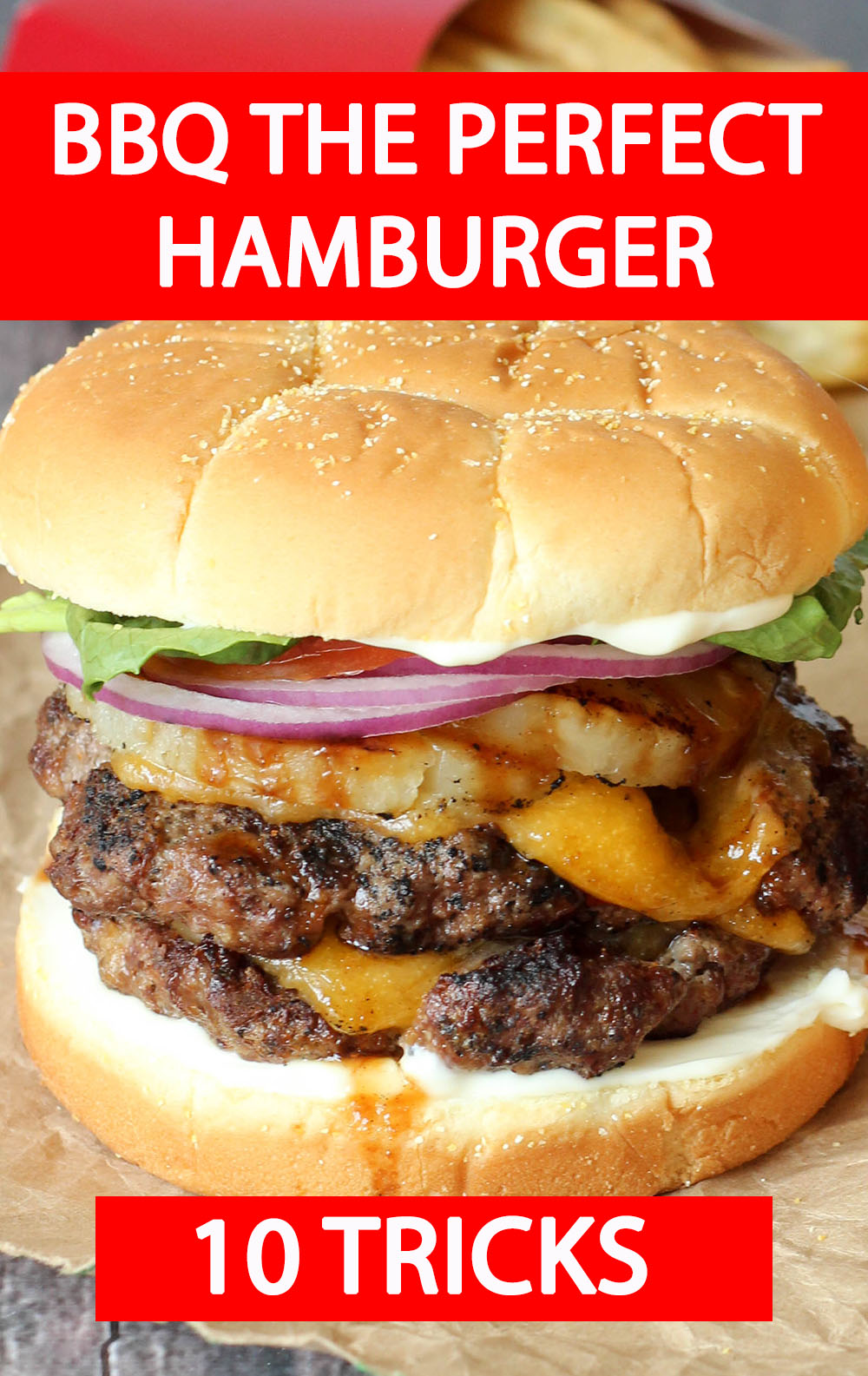 Solve all your burger grilling problems! These easy tips for flavorful, juicy, hamburgers will make you a grilling legend. My easy trick to make perfect patties will amaze you!