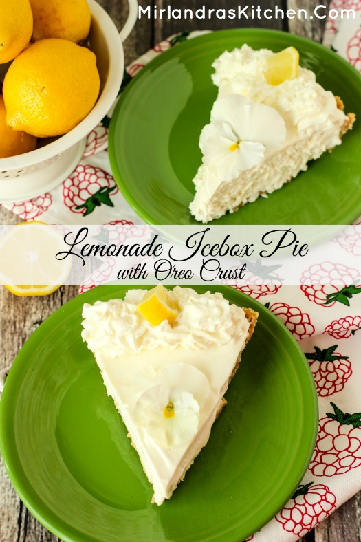 Sweet, tart and creamy, this Lemonade Icebox Pie only takes 10 minutes ...