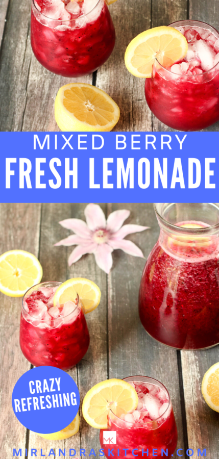 mixed berry lemonade promo image