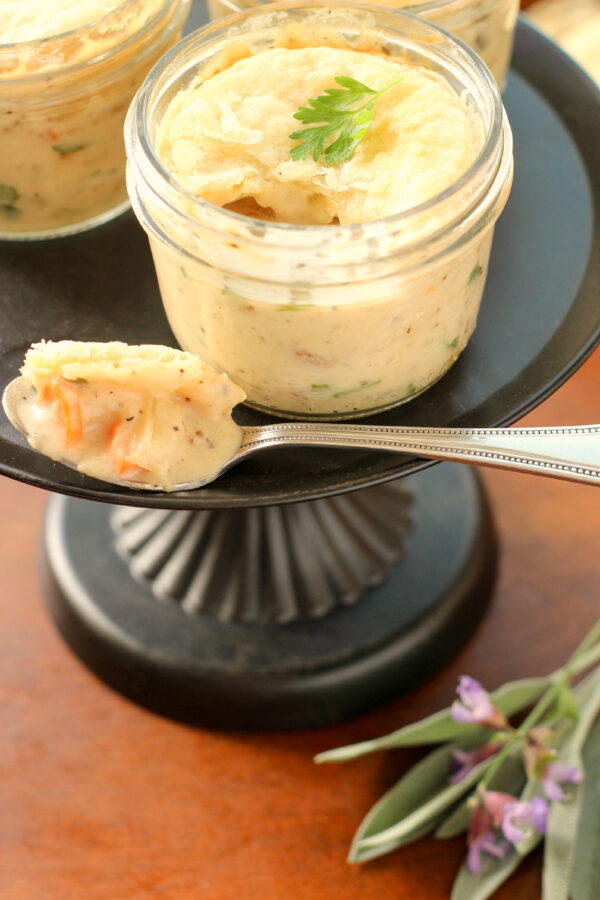 This homemade chicken pot pie is rich and creamy and oh so comfortaing!