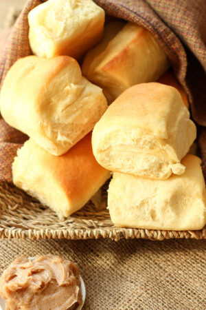 Soft and tender, these Texas Roadhouse rolls are perfect for Easter, Christmas, Thanksgiving and everyday dinners. Serve them with the amazing cinnamon honey butter.