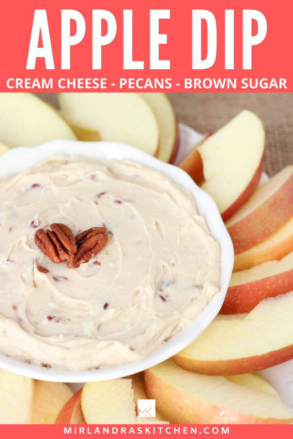 brown sugar pecan apple dip promo image