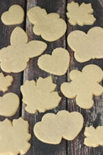 These sugar cookies are wonderfully simple. You don't have to chill the dough and the edges come out perfect every time! There is a great buttercream frosting recipe included too