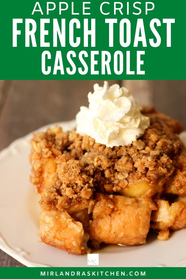 apple crisp French toast casserole promo image
