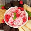Decadent and simple no cook White Chocolate Raspberry Cheesecake Dip is a hit everywhere I take it. It is perfect with your favorite cookies.