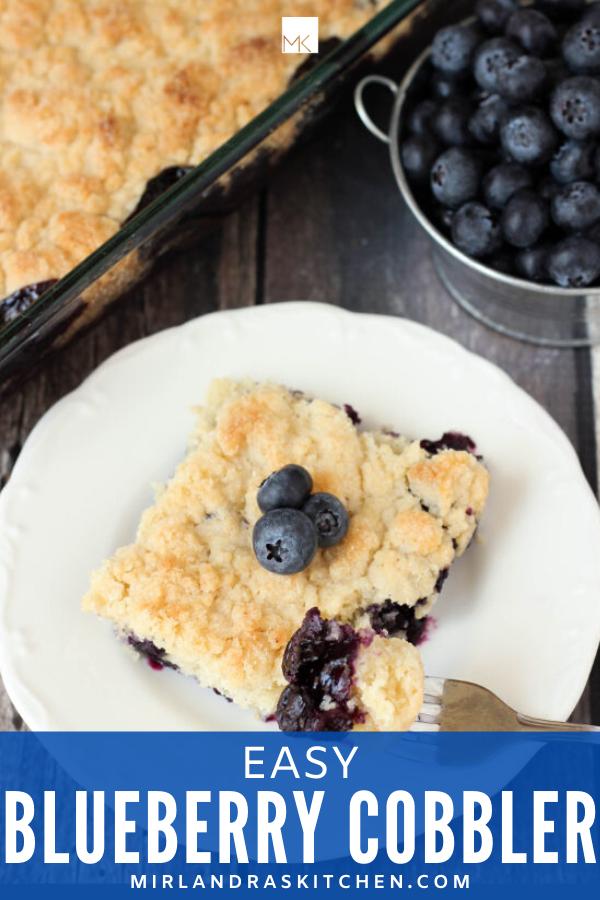 easy blueberry cobbler promo image