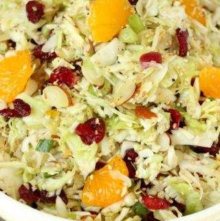 This Asian Coleslaw has a bright dressing that brings everything together with savory Asian seasonings. It is the perfect summer side dish for BBQ etc.