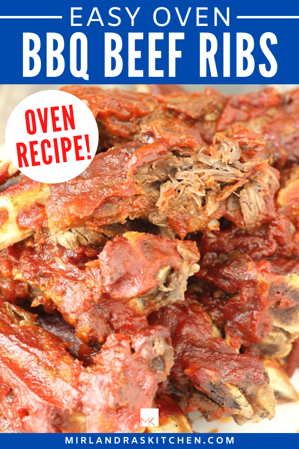 oven bbq beef ribs promo image