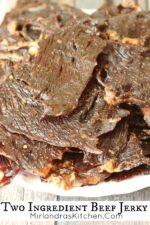 This is the easiest beef jerky we have ever made! Spicy options are included for the more adventurous.