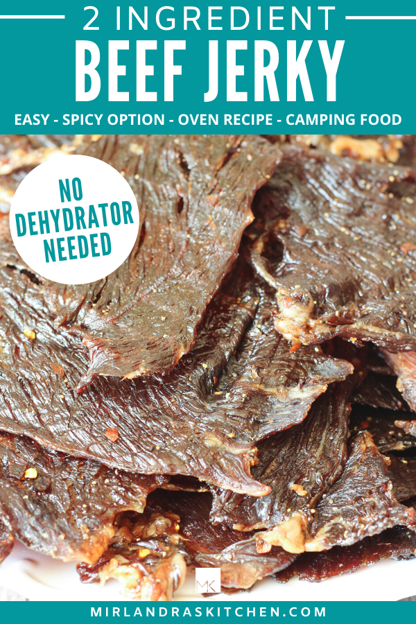 homemade two ingredient beef jerky promo image