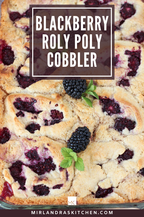 roly poly blackberry cobbler promo image