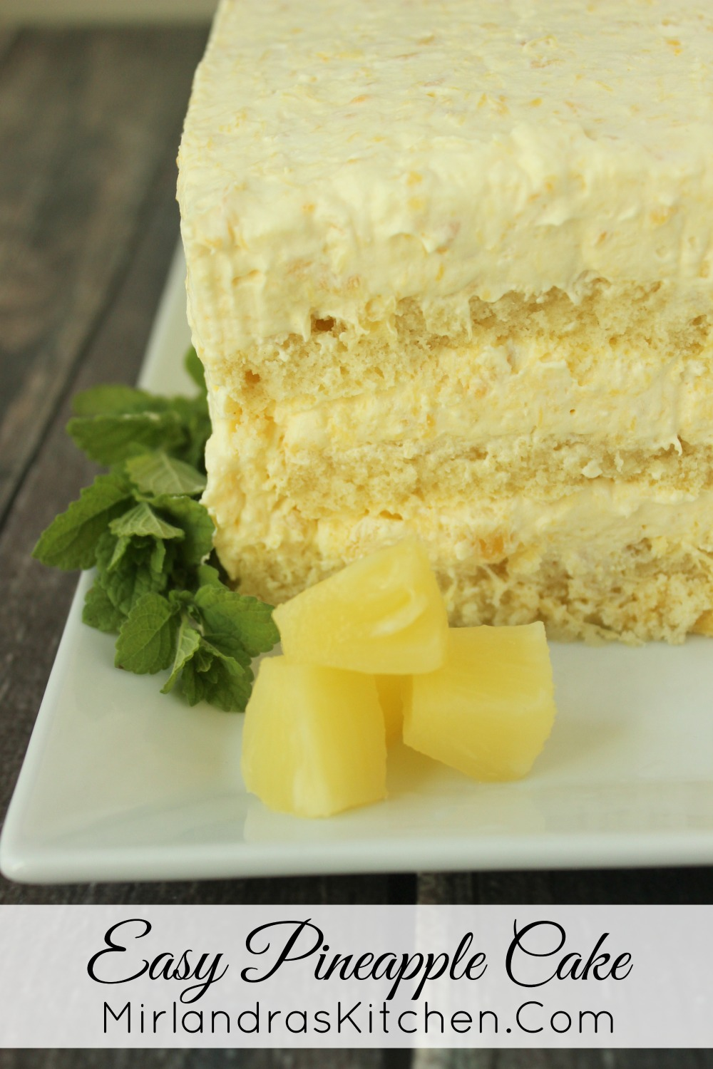 Angel Food Cake With Pineapple Pudding Filling