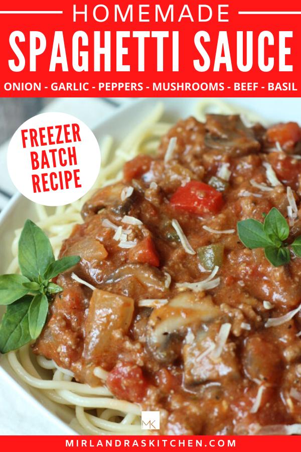 homemade spaghetti sauce promo image
