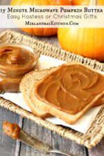 This silky, spicy pumpkin butter tastes like pumpkin pie and is ready in 15 minutes. It is a wonderful fall treat on muffins, toast, and pancakes! The recipe makes 8 cups total so you will have plenty to share as hostess and Christmas gifts (if you can part with it).