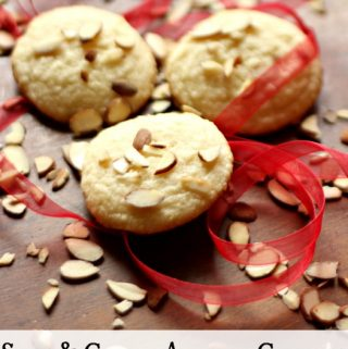 These rich, buttery, almond cookies are moist and chewy every time. They are one of my all time favorite cookies!