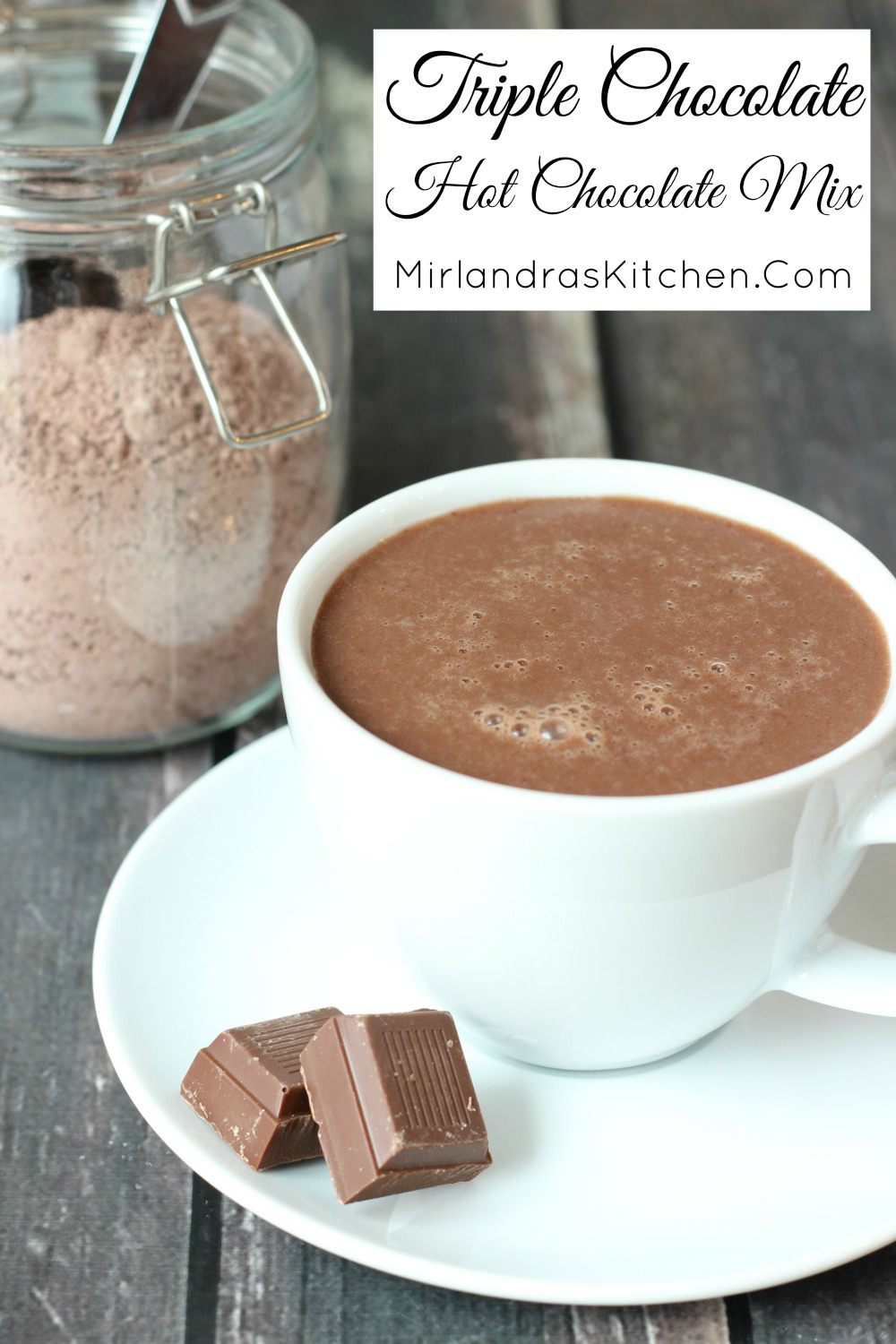 Milk chocolate, white chocolate and dutch cocoa come together in this classic and decadent hot chocolate mix perfect for every day drinking and gifts.