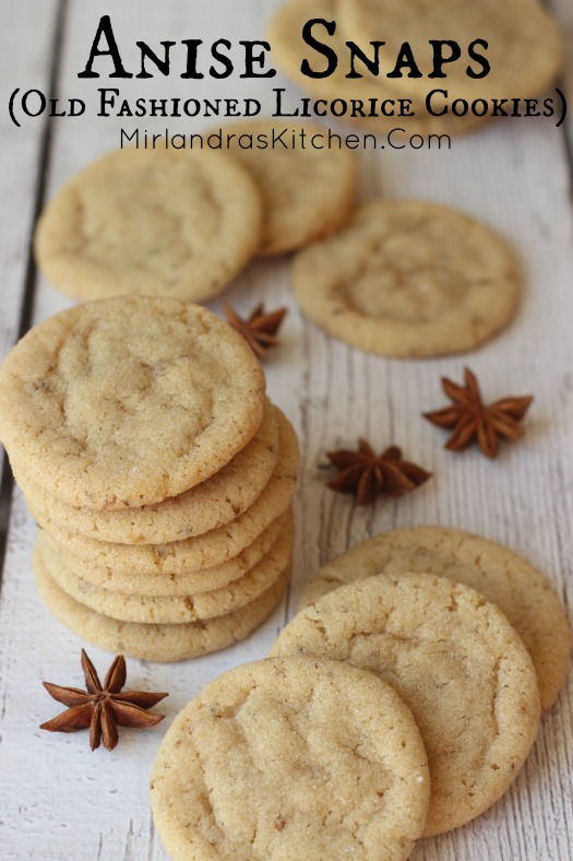 These old fashioned Anise Snaps are a rare treat. Soft, buttery cookies with a hint of licorice flavor offer something a bit different for the cookie plate.