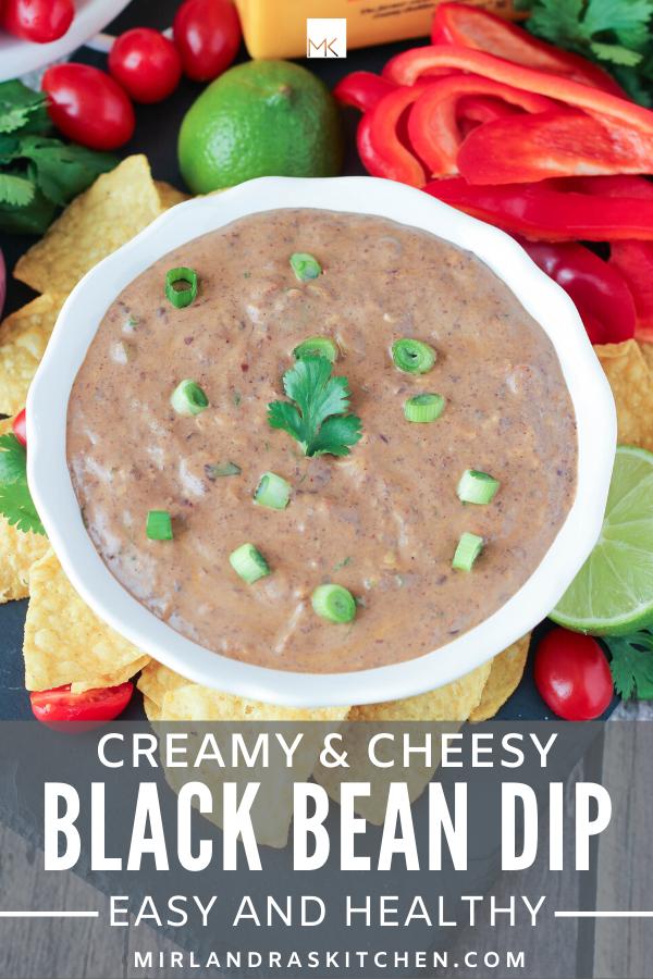 creamy black bean dip promo image