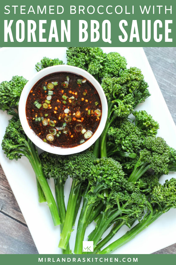 broccoli with Korean dipping sauce promo image