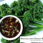 Broccoli is a beloved snack, appetizer, and side dish at our house because we serve it up right with an easy Korean BBQ Sauce for dipping. Traditional flavors of ginger, garlic, green onions and soy sauce make for some darn good sauce! Kids and adults love the sweet and salty flavor and the broccoli disappears fast.
