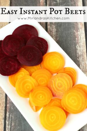 Beets are flavorful and healthy. They make a great snack or addition to your dinner table and are ready quickly in an Instant Pot pressure cooker.