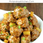 These flavorful meatballs in a sweet teriyaki pineapple sauce always go quickly! We serve them as appetizers or with rice and veggies for a simple dinner.