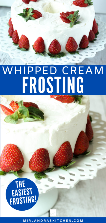 easy whipped cream frosting promo image