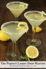 This lemon drop martini is my version of heaven. Simple to prepare, and lemony perfection to drink. Try my lemon sugar recipe on the rim - it is excellent! You can make these a few at a time or mix up as a big batch cocktail for a party. Perfect for bridal showers, Easter brunch, or summer BBQs.