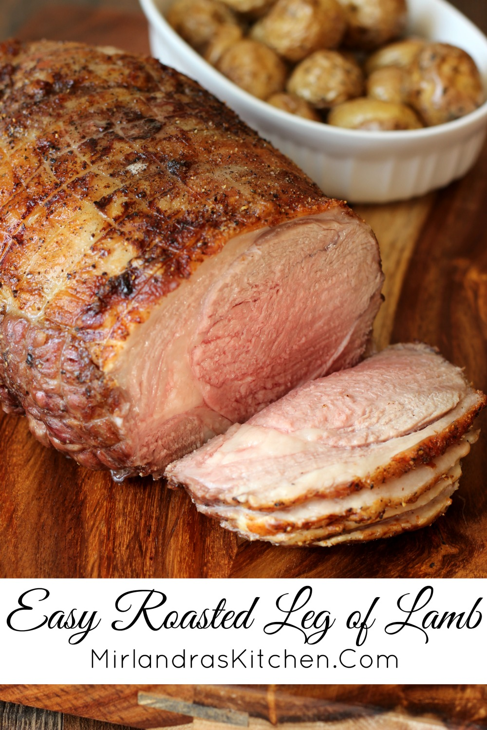 Tender roasted Leg of Lamb is a classic for Easter and other holidays. My simple recipe makes a perfect roast every time.