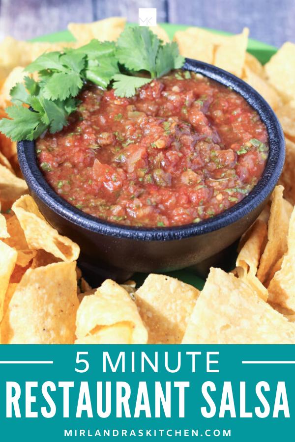 5 minute restaurant salsa promo image