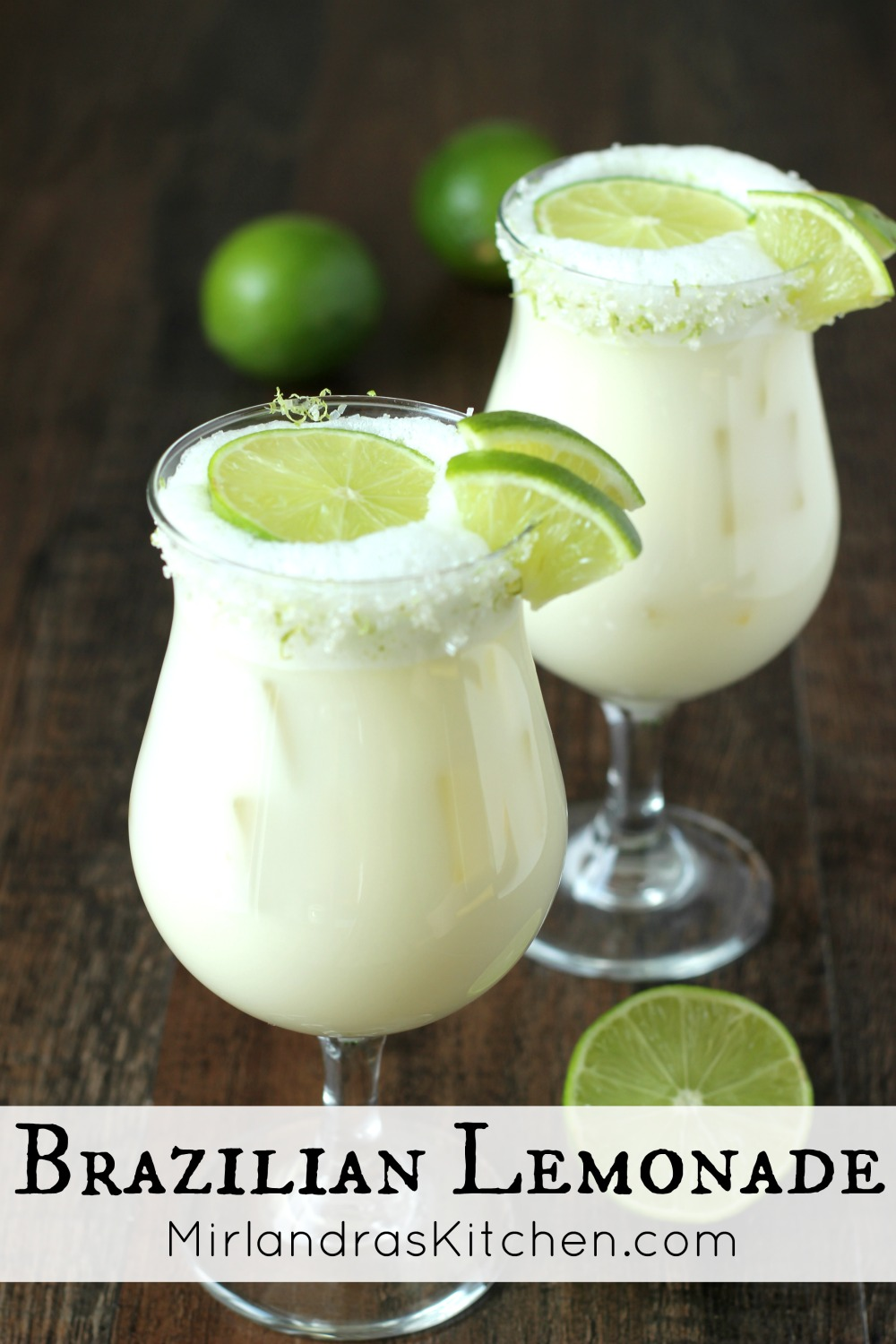 Brazilian Lemonade is a creamy, smooth refreshing lime drink native to Brazil. This version is just like the one Tucanos Brazilian Grill makes!