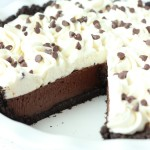 This simple Chocolate Cream Pie has a decadent chocolate filling, perfect Oreo crust and a homemade whipped cream top! The perfect anytime dessert!