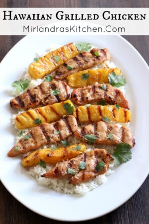 Grilled chicken the way it should be! Tender, sweet and savory - grilled up with juicy brown sugar pineapple for an easy dinner in 20 minutes.