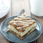 This moist and tender Sour Cream Coffee Cake is one of my favorites! It is the perfect blend of vanilla scented cake and layers of cinnamon brown sugar.