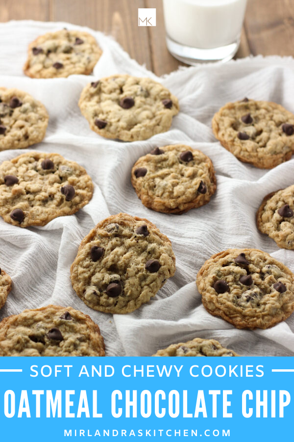 chewy oatmeal chocolate chip cookies promo image