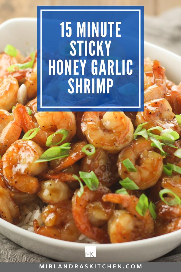 sticky honey garlic shrimp promo image