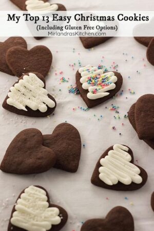 It's time to bake! These are all my best recipes for easy Christmas cookies in one place. From a simple traditional rolled sugar cookie to delicious gluten free cookies there is something for everyone!
