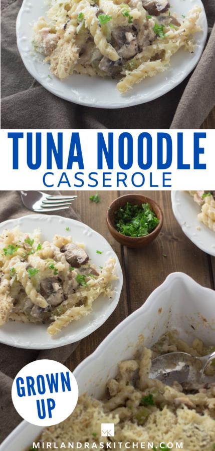homemade tuna noodle casserole promo image