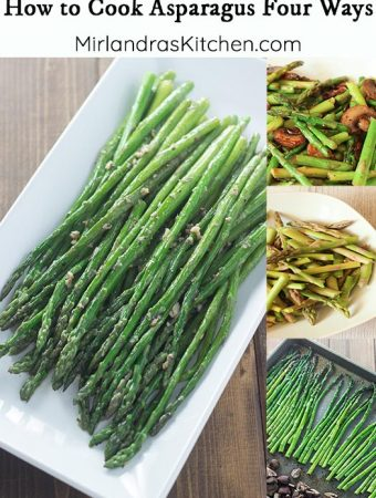 Ever wondered how to cook asparagus? It is a quick and easy vegetable to prepare on the stove or in the oven. These four recipes are all great options for making delicious asparagus seasoned just the way you like it!